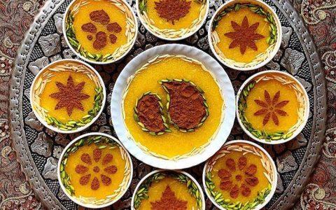شله زرد نذری پخت