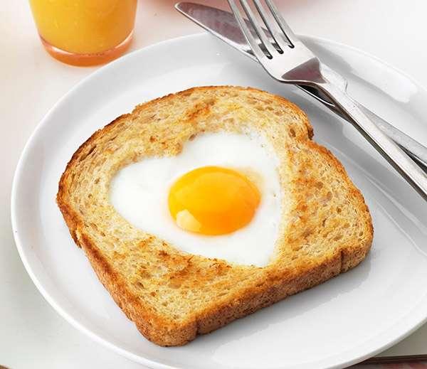 • نان و تخم مرغ و کره
