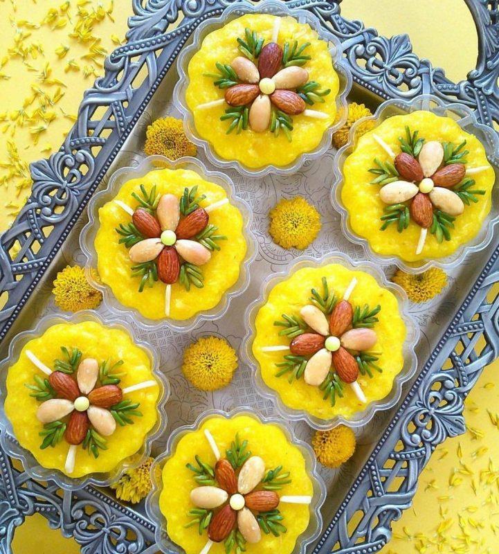 شله زرد قالبی،طرز تهیه شله زرد قالبی