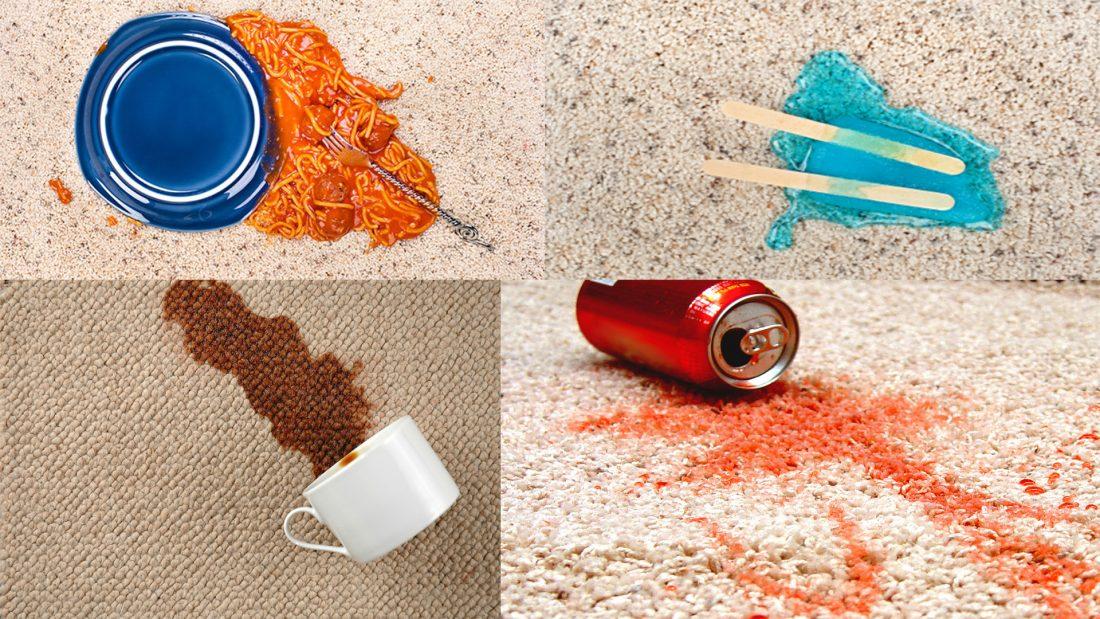 انواع استفاده جادویی از مایع ظرفشویی - ازبین بردن لکه های روی فرش