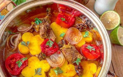 طرز تهیه تاس کباب سنتی خوشمزه (غذای رژیمی)
