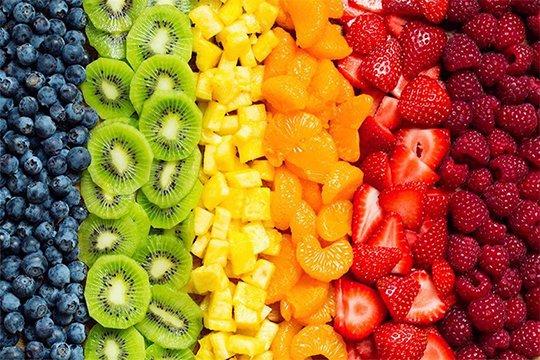 تشخیص ویتامین میوهها از رنگ آنها