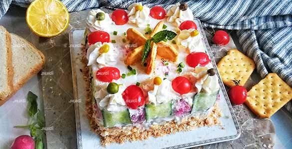طرز تهیه کیک مرغ مجلسی