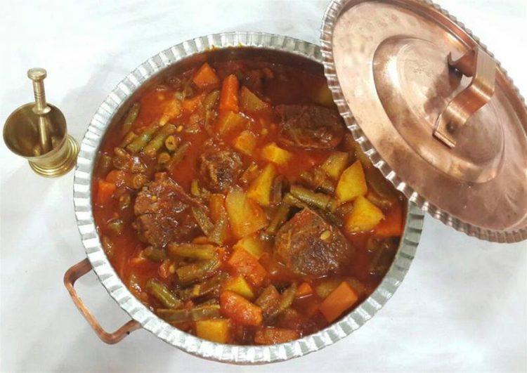 طرز تهیه خوراک لوبیا سبز برای ماه رمضان، غذای افطاری نونی خوراک لوبیا