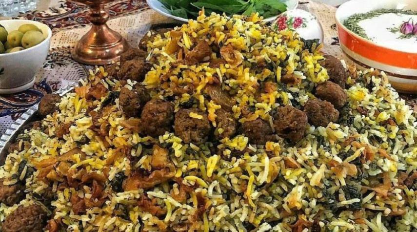 طرز تهیه کلم پلو شیرازی سریع و خوشمزه شیرازی