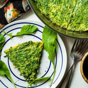 طرز تهیه کوکو سبزی با سیب زمینی