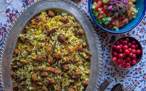 تهیه کلم پلو شیرازی