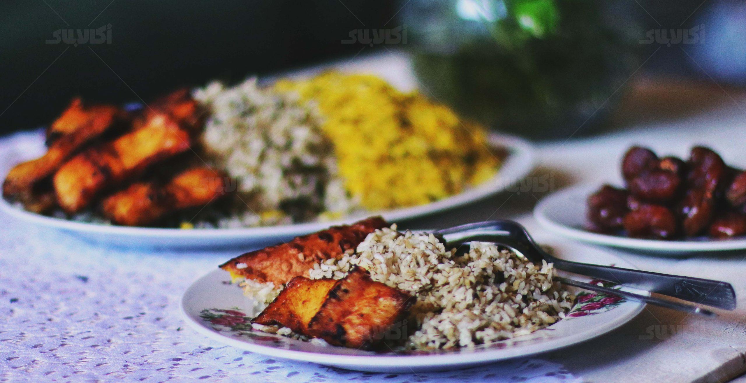 سبزی پلو با ماهی عید؛ مرحله به مرحله