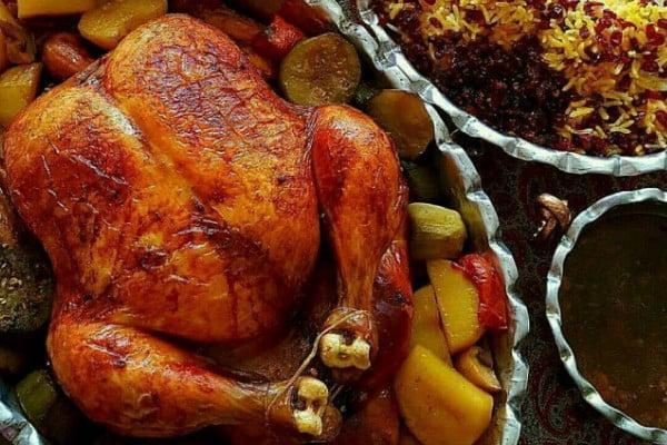 طرز تهیه مرغ شکم پر- ناهار چی بپزم؟