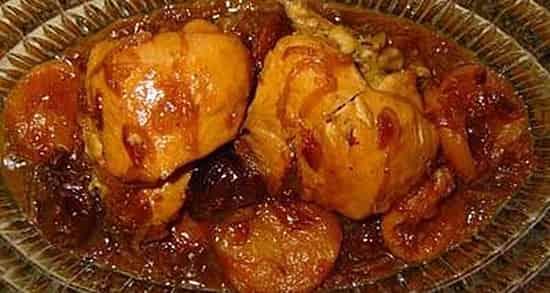 طرز تهیه خورش آلو مسمای شمالی با مرغ