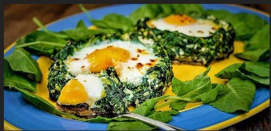 طرز تهیه نرگسی با اسفناج و تخم مرغ