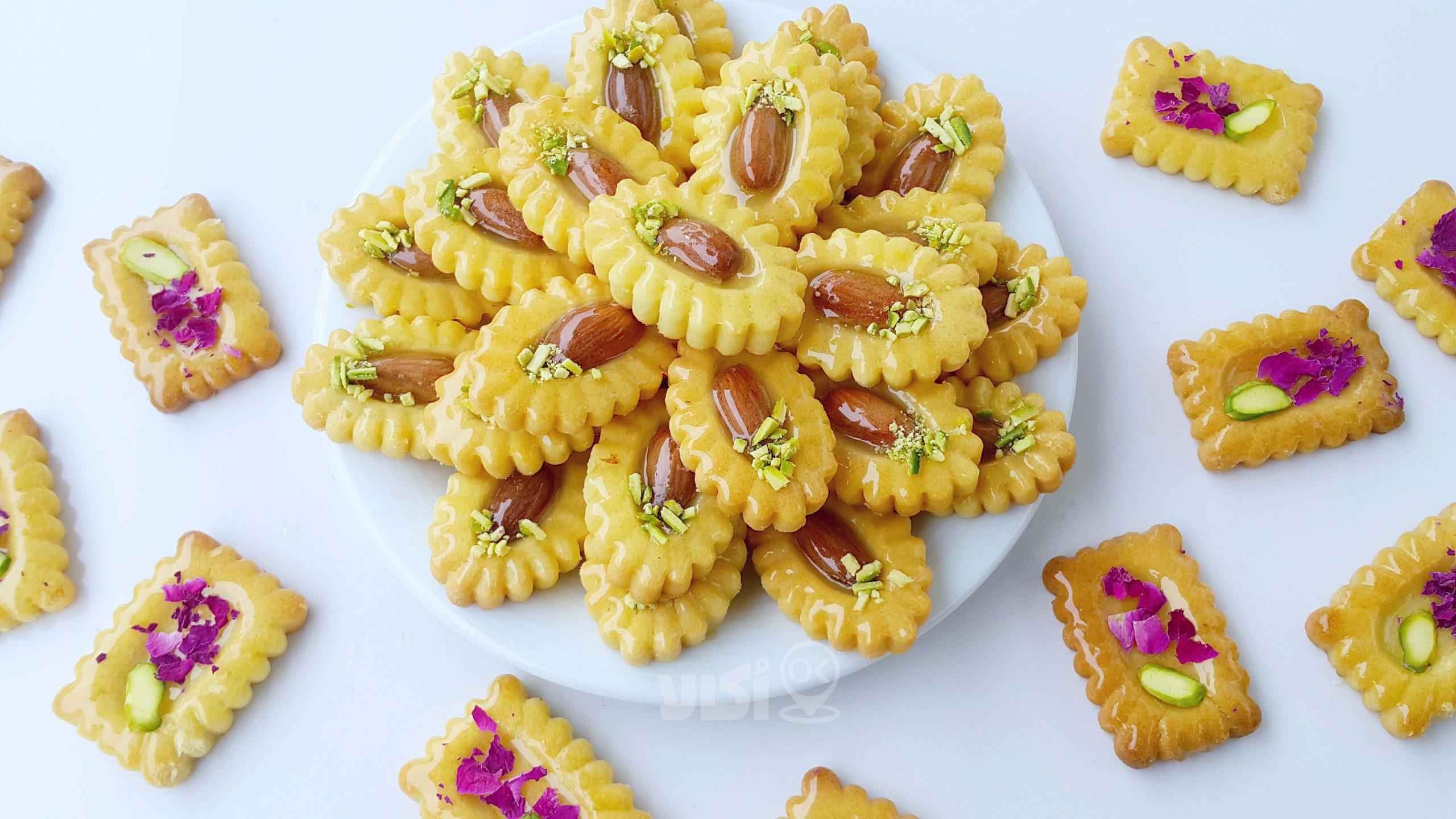 طرز تهیه کوکیز بادام برای عید